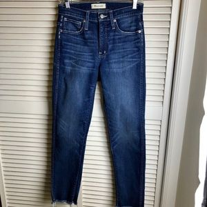 MADEWELL/HIGH RISE/STRETCH/SLIM STRAIGHT JEAN